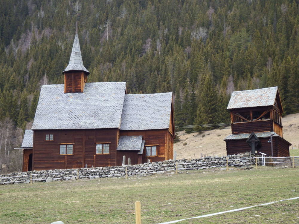 One of the several wooden stave churches near Fagernes.