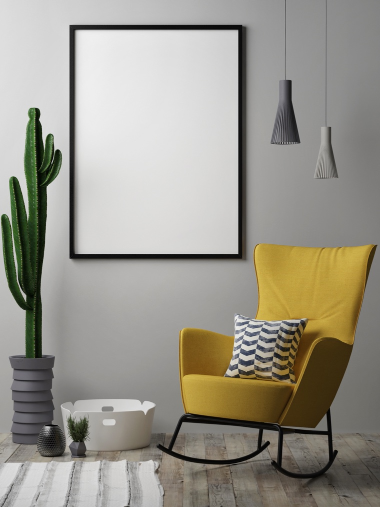 Bold colours are used sparingly in Scandinavian design.