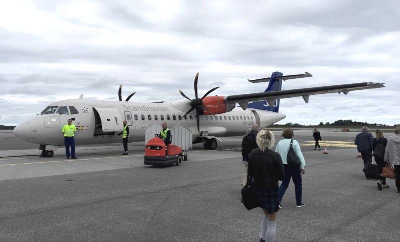 SAS shuttle at Ålesund Airport