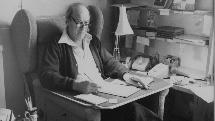 Roald Dahl writing