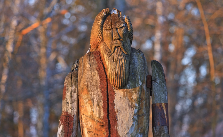 Statue of the Norse God Odin