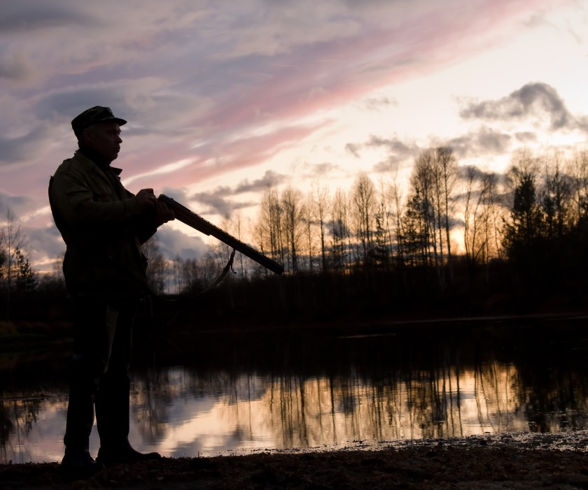 Hunting in the Norwegian countryside