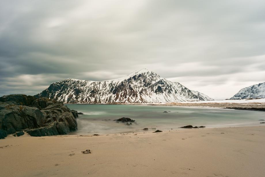 Skagsanden beach in Lofoten