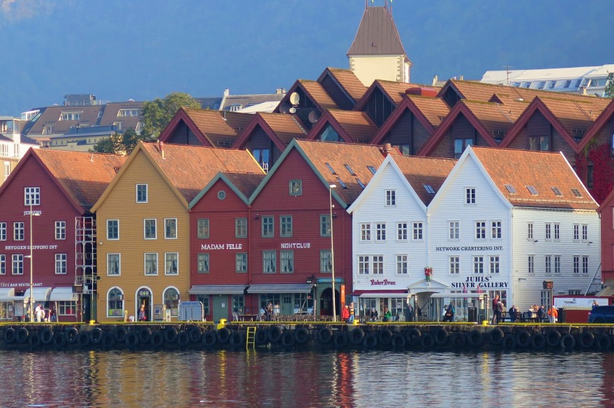 The colourful Bryggen wharf in Bergen, Norway