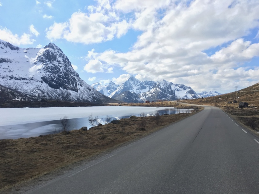 Driving through Lofoten