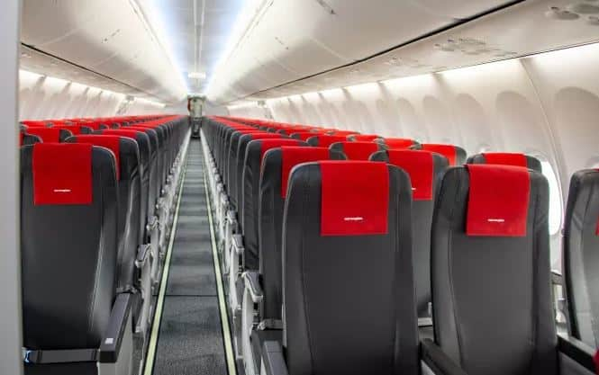 Norwegian slimline plane seats