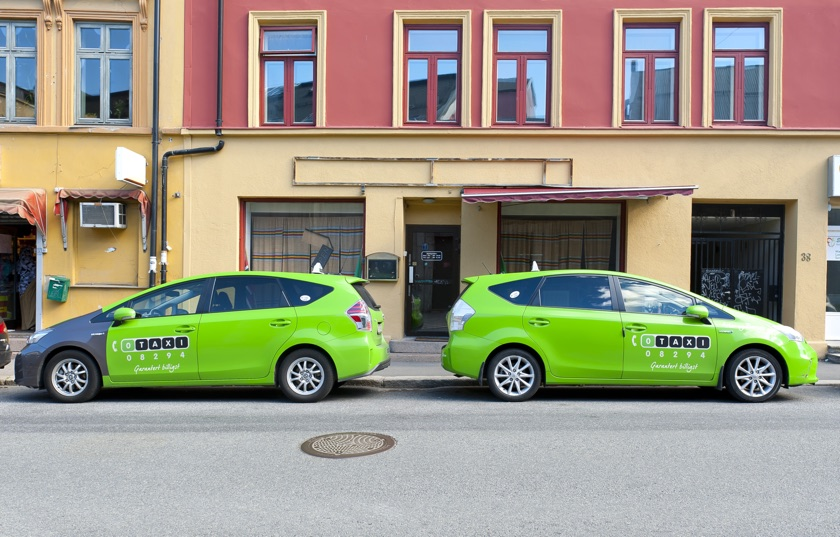 Green taxis in Oslo