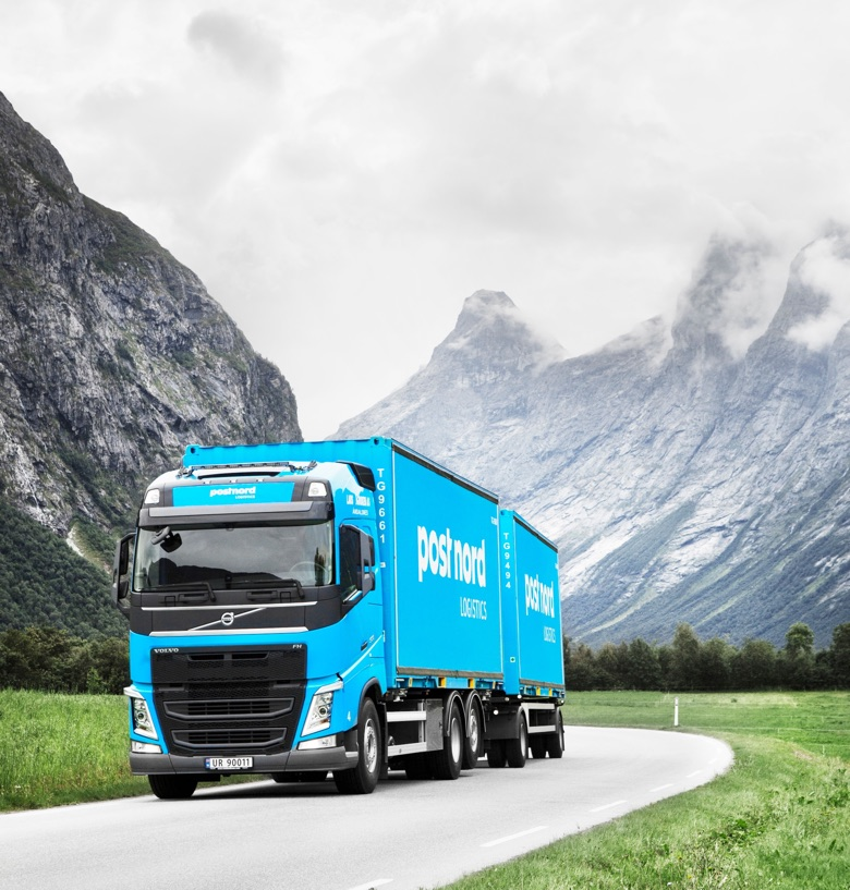 Postnord truck in Norway