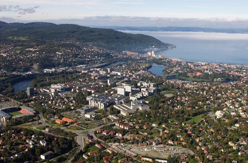 The NTNU campus dominates Trondheim