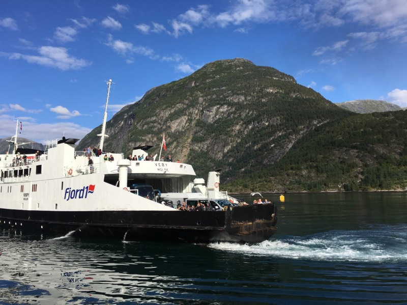A sightseeing ferry trip on the Geirangerfjord