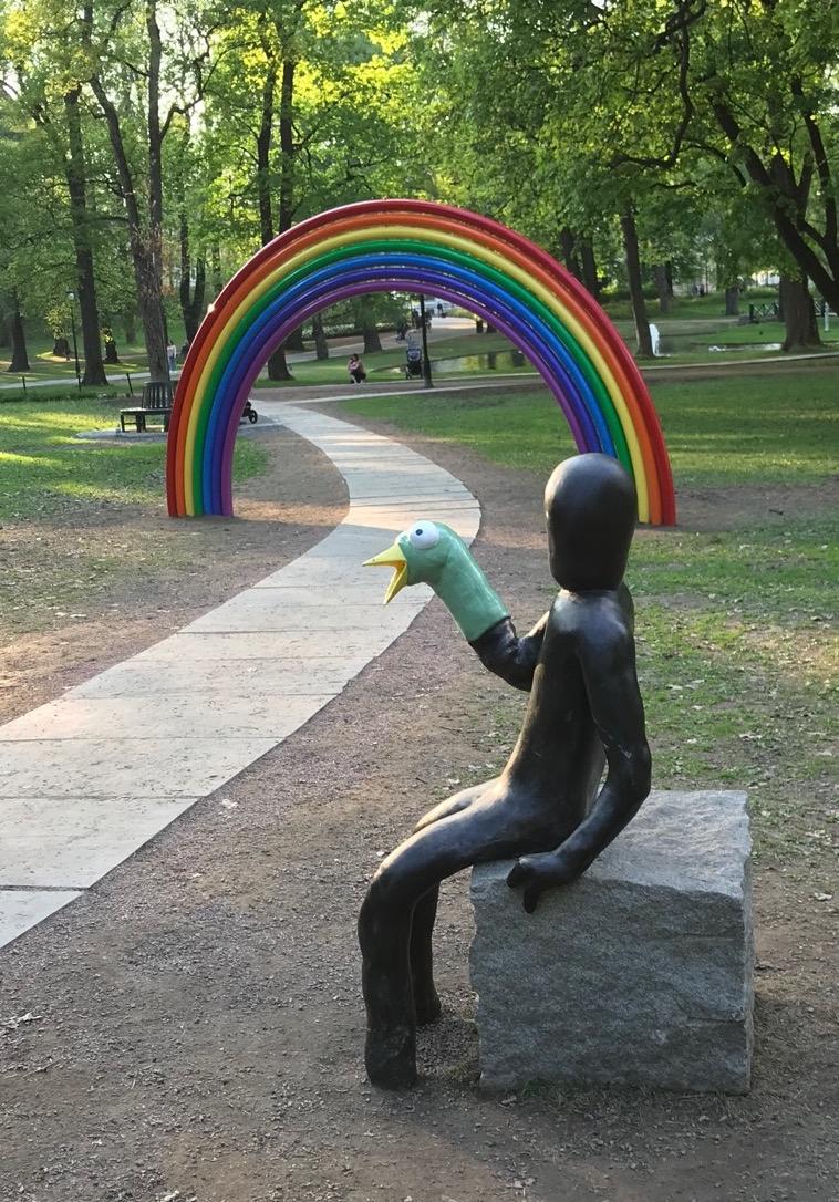 Rainbow at the Royal Palace of Oslo