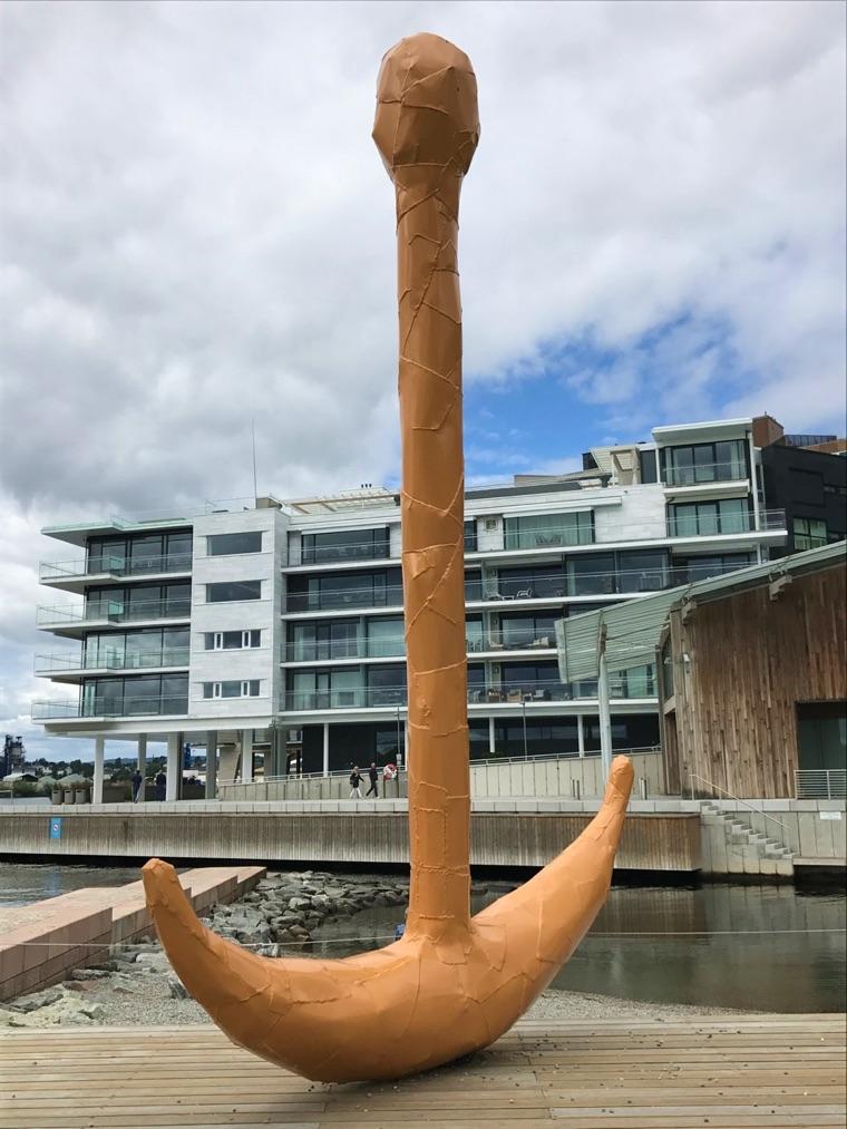 Anchor sculpture in Oslo