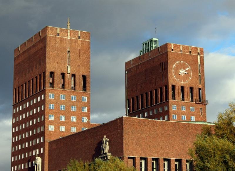 The unique architecture of Oslo City Hall