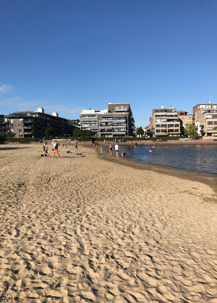 The city beach in Kristiansand