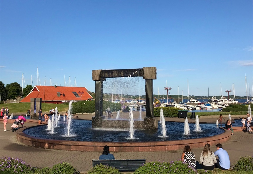 Kristiansand summer city in southern Norway