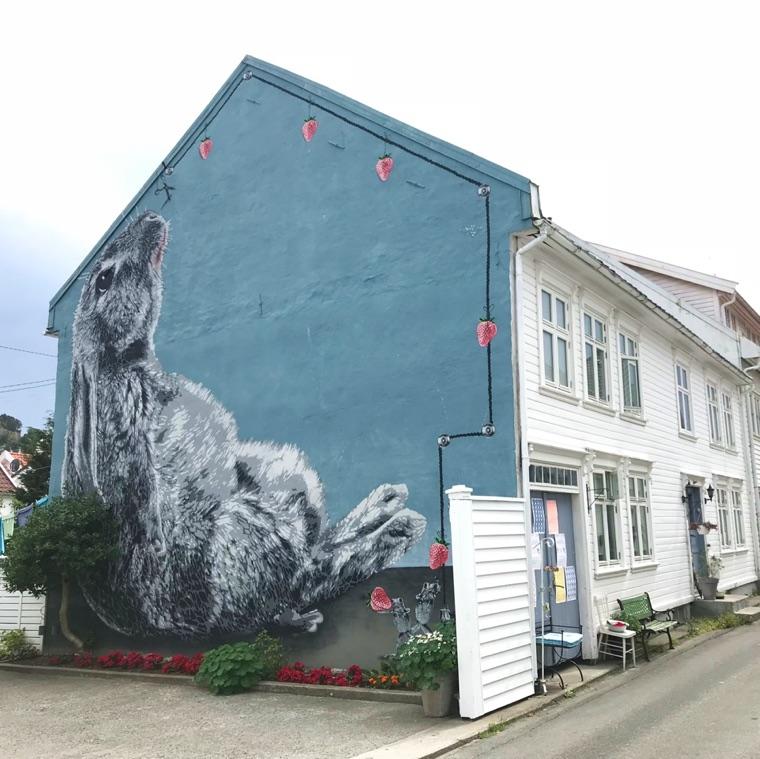 Street art in Flekkefjord, Norway