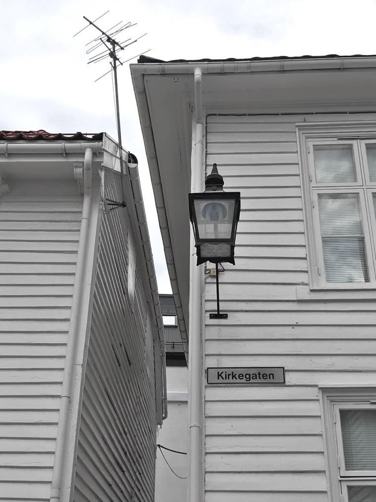Kirkegaten, a street in the Dutch Quarter of Flekkefjord, Norway