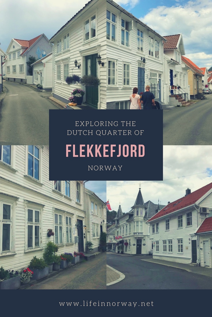 The Dutch Quarter of Flekkefjord, Norway, is a beautiful district of white wooden houses by the waterfront.