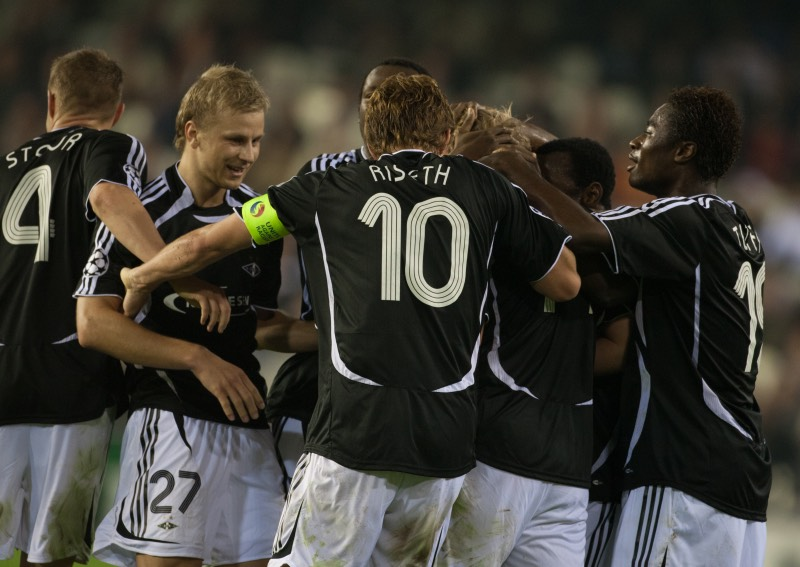 Rosenborg players in action