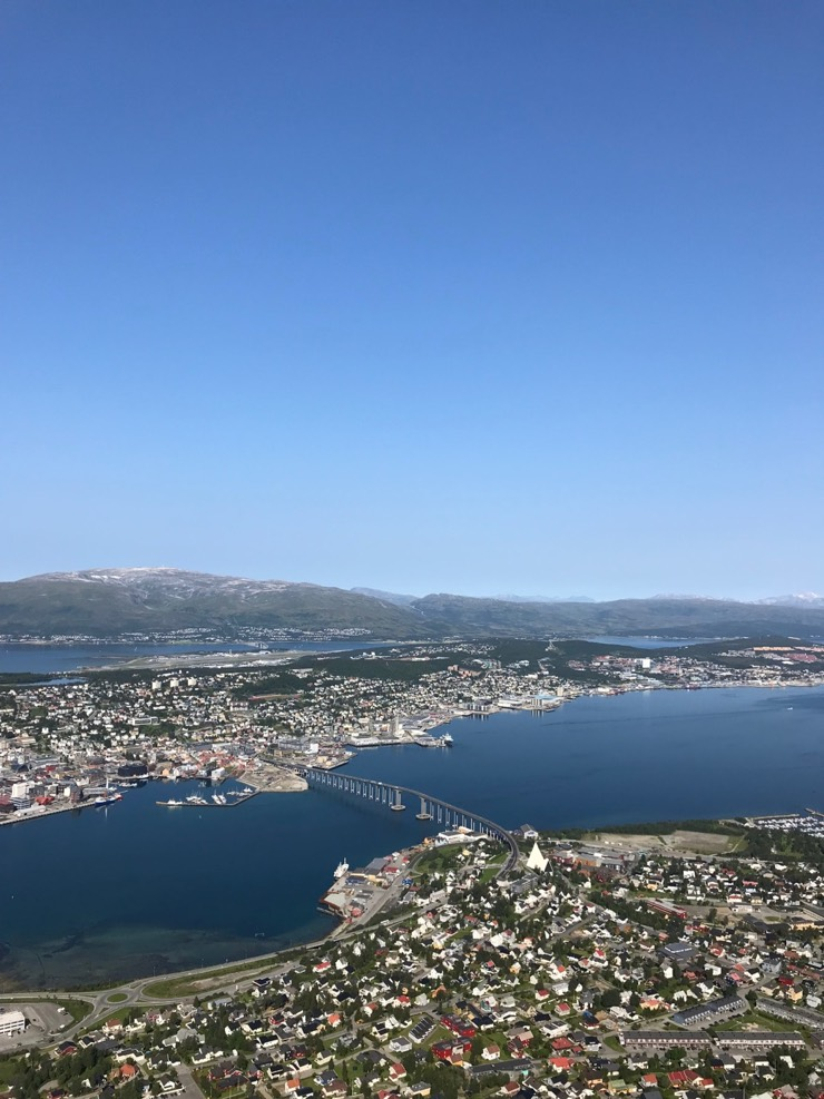 Summer sun in Tromsø