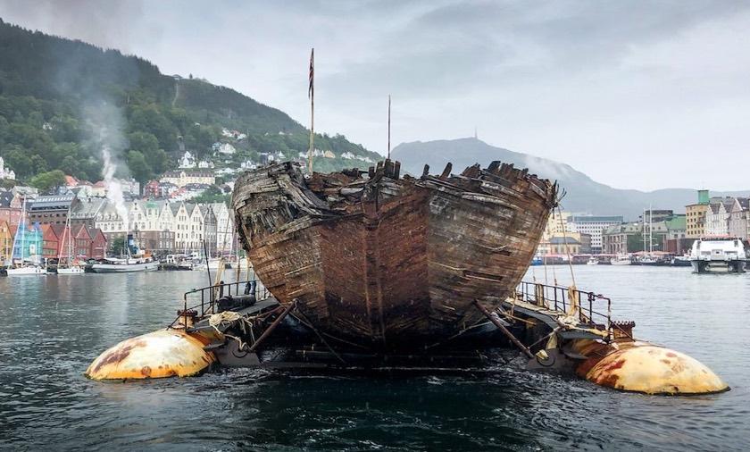 Amundsen's Maud ship back in Bergen