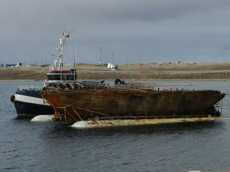 Maud back on the surface in Cambridge Bay