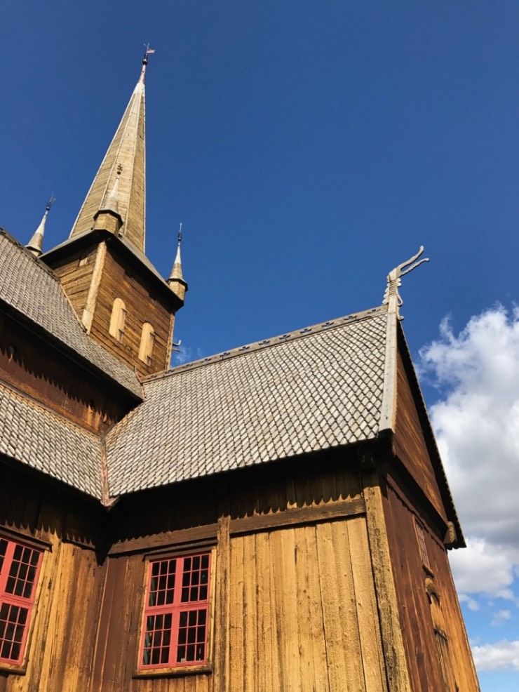 Lom Stave Church close to Jotunheimen National Park in Norway