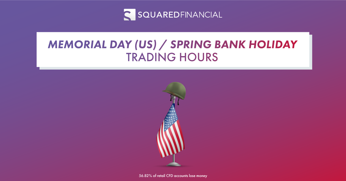 Memorial Day / Spring Bank Holiday - Trading Hours