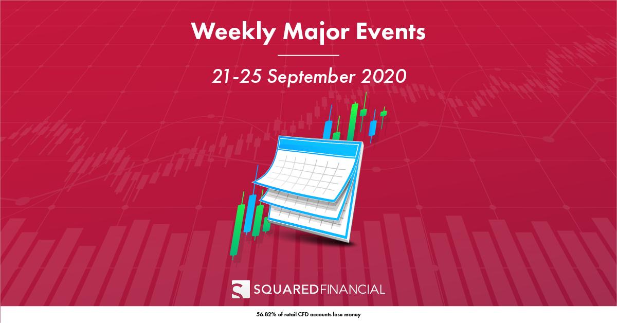 Weekly Major Economic Events: 21 – 25 September 2020