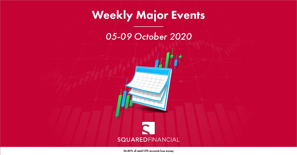 Weekly Major Economic Events: 05 – 09 October 2020