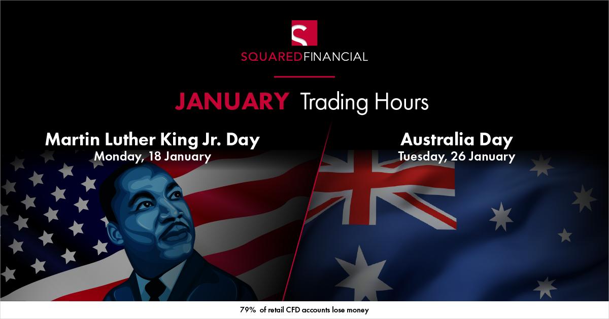 January Holidays Trading Hours