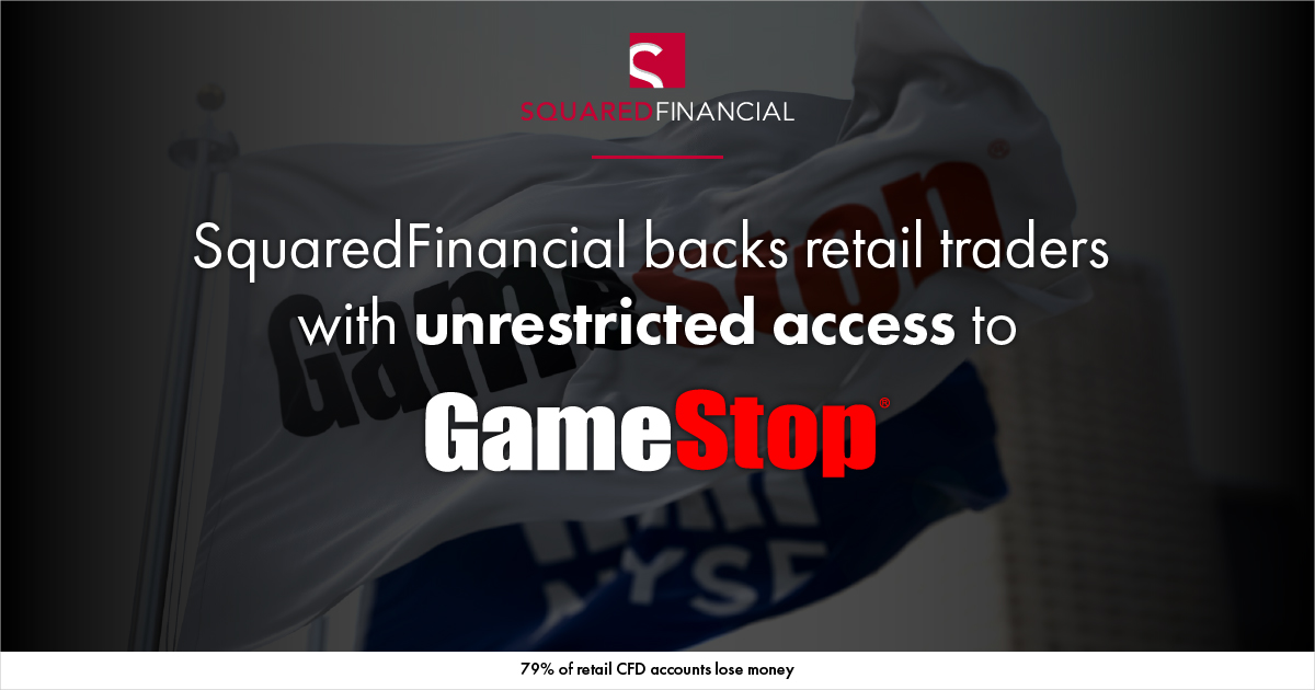 SquaredFinancial Backs Retail Traders with Unrestricted Access to GameStop