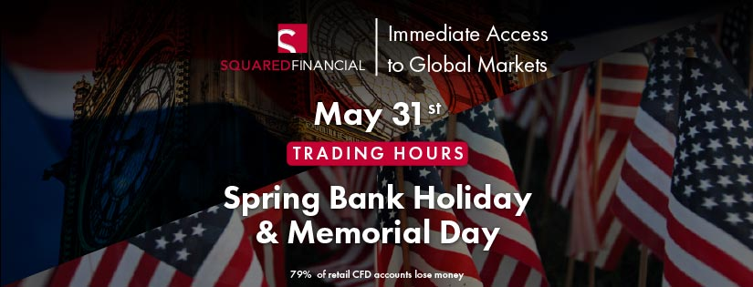 Spring Bank Holiday & Memorial Day - Trading Hours