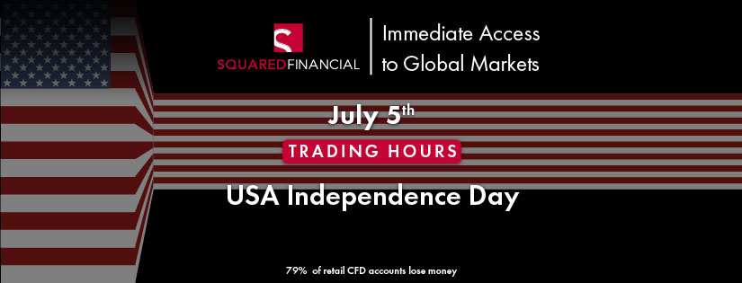 USA Independence Day - Trading Hours