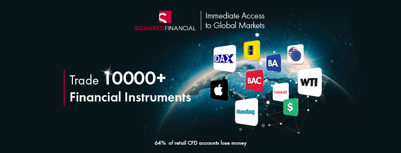 Trade 10,000+ products in 15 global markets with SquaredFinancial