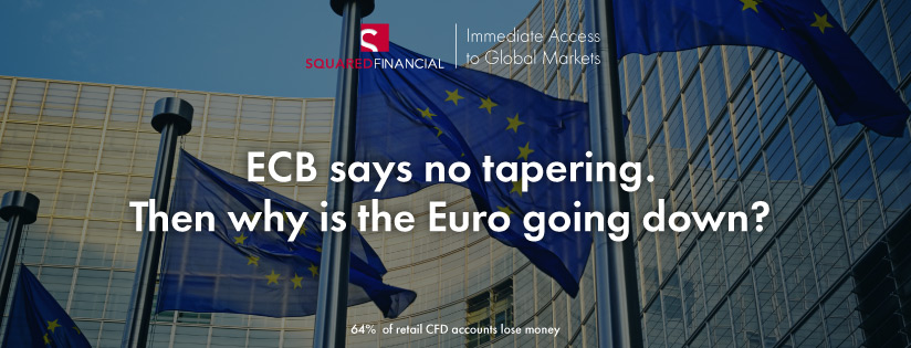 ECB says no tapering. Then why is the Euro going down?