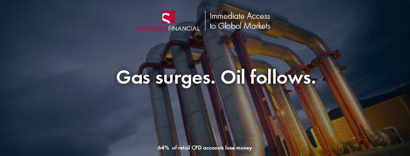 Gas surges. Oil follows.