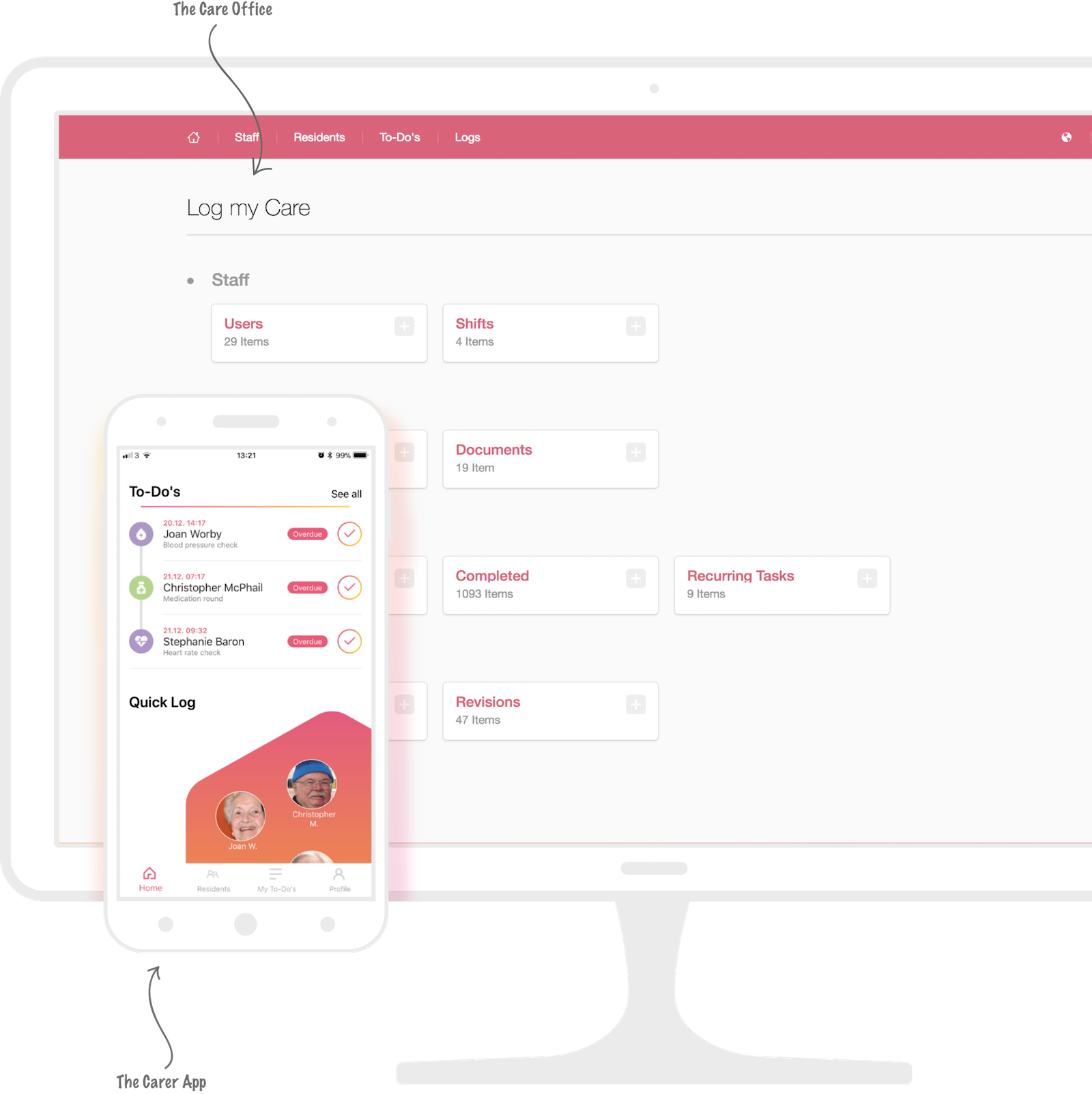 Log my Care Has A Simple Interface For It's Care Planning Software