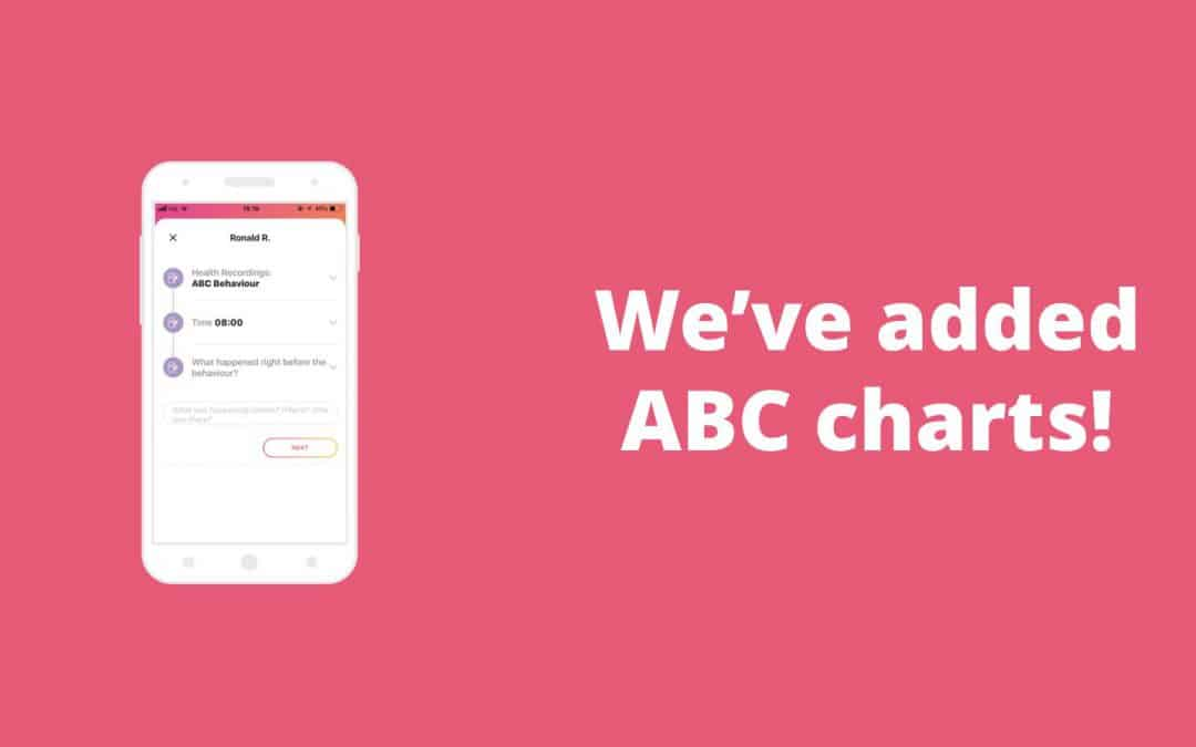 We've added ABC charts to our care management system