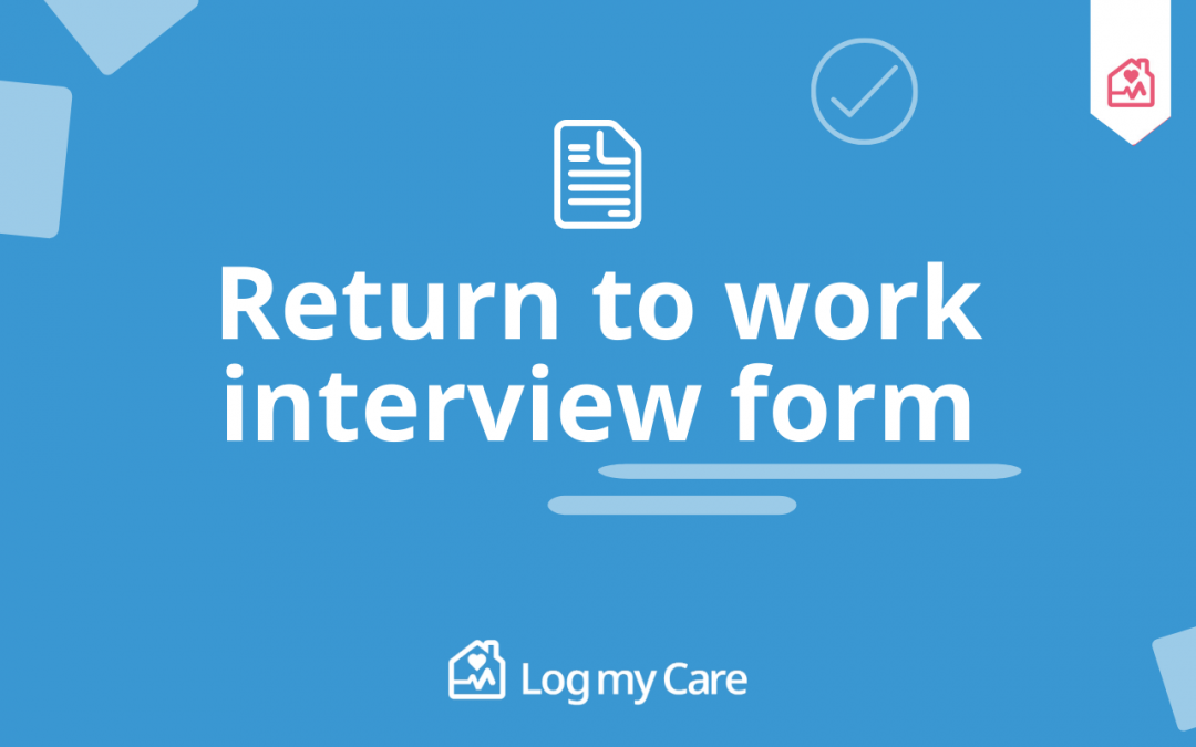 Coronavirus Return To Work Interview Form for Care services