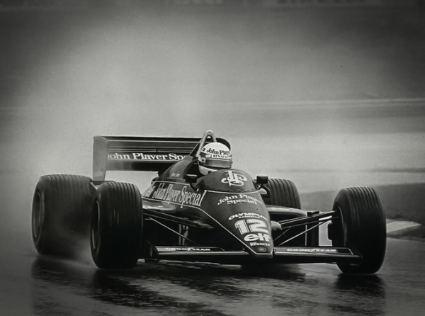 Ayrton Senna racing in the Estoril GP 1985 Credit Classic Team Lotus