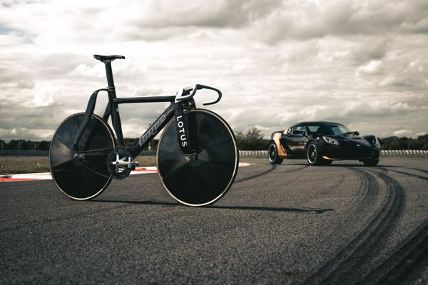 Lotus Olympic track bike and Elise Classic Heritage Edition