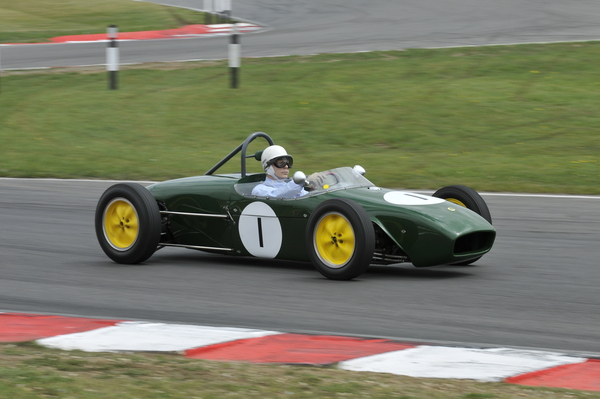 Lotus Type 18 Stirling Moss son Elliot Moss driving 1