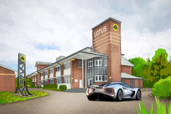 Artist's impression of the new Lotus advanced technology centre when established