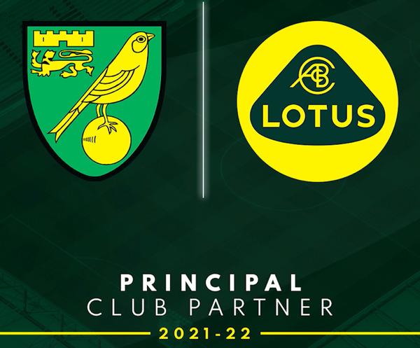 Norwich City Football Club Lotus partner