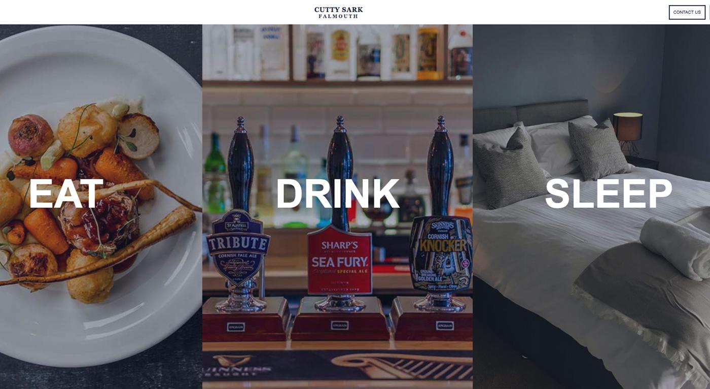 Cutty Sark inn Website screenshot