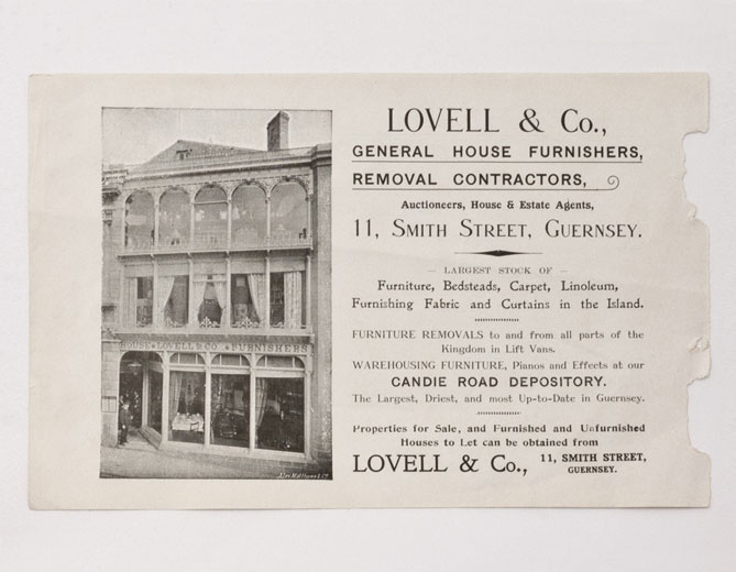 Lovells And Co, Early Print Advertisement