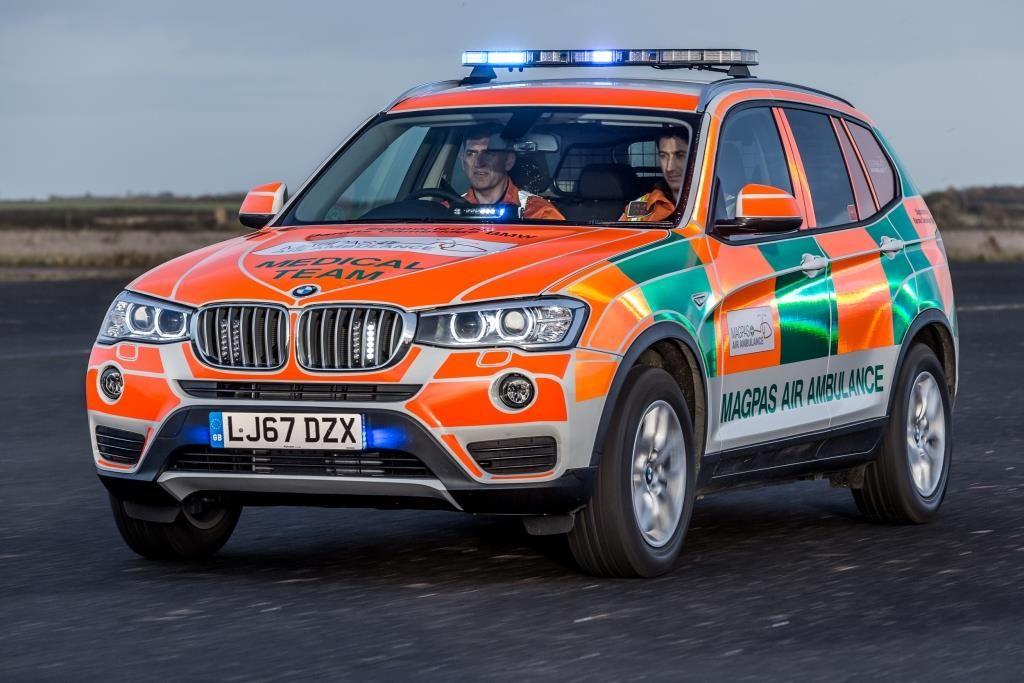A Magpas Air Ambulance rapid response vehicle