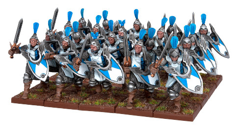 Men-at-Arms regiment with swords and shields