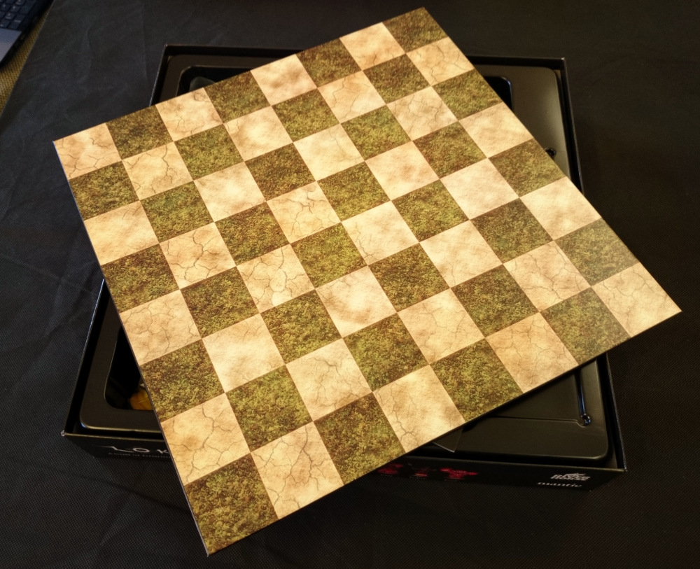 Fancy playing regular Chess? Easy! Just flip your gameboard. The design goes right to the edge,